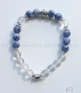 Armband blauer Jaspis mit Bergkristall