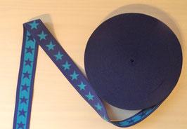 Gummiband Sterne XL royalblau türkis