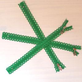 "Reißverschluss ""Sterne"" grün"
