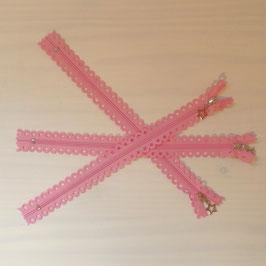 "Reißverschluss ""Sterne"" rosa"