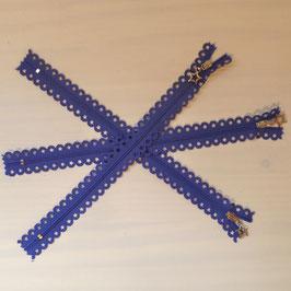 """Reißverschluss """"Sterne"""" blauviolett"""