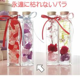 ハーバリウム 母の日 ハーバリウムキット 大きめ瓶2本 バラの花びら ハーバリウム ギフト バラ 枯れないバラ シリコンオイル 誕生日