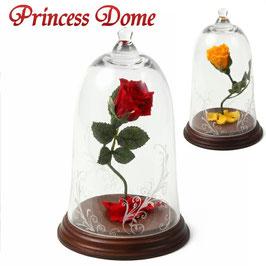"""美女と野獣 バラ プロポーズ 枯れないバラ 花 ガラスドーム 誕生日プレゼント 結婚記念日 バラ 名入れ彫刻できます 1輪のバラ花言葉 あなたしかいない"""""""
