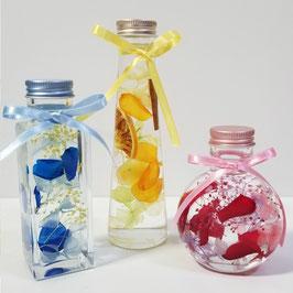 ハーバリウムキット 3本 バラ3色 あじさい6色 かすみ3色 選べる瓶 ハーバリウム オイル バラ シリコンオイル ハーバリウム キット