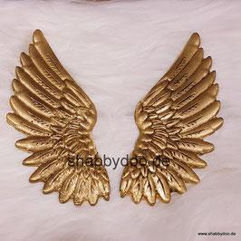 Engelsflügel gold shabby Ornament zum verzieren von Möbeln und Bastelarbeiten