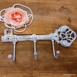 Schlüsselbrett Schlüssel Metall shabby weiß