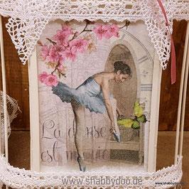Vogelkäfig shabby Bilderrahmen mit Ballerina