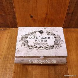 Schmuckkästchen Holz shabby vintage Motiv weiß kleine Schmuckbox