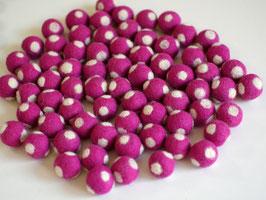 30 Filzkugeln Fliegenpilz pink