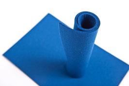 Wollfilzplatte 20 x 30 cm , 3mm blau, Farbe Nr. 16