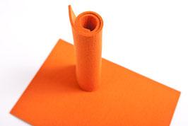 Wollfilzplatte 20 x 30 cm ,3mm, Orange Farbe 14