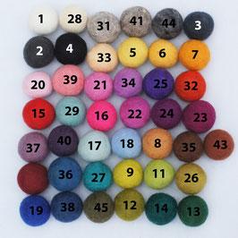 10 Filzkugeln - 3 cm