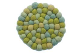 Filzkugel Untersetzer 10 cm grün