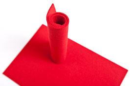 Wollfilzplatte 33 x 45 cm , 3mm, rot Farbe Nr.  11