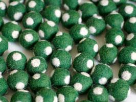 30 Filzkugeln Fliegenpilz grün