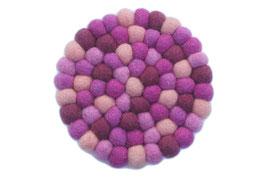 Filzkugel Untersetzer 10 cm lila