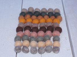 100 Filzkugeln 1 cm, Natur Mix