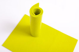 Wollfilzplatte 20 x 30 cm , 3mm, lemon  Farbe  Nr.  12