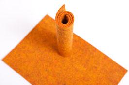 Wollfilzplatte 20 x 30 cm , 3mm , Orange melliert, Farbe Nr. 6