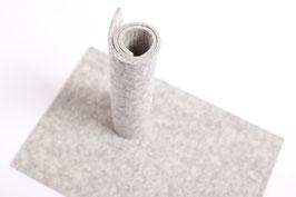 Wollfilzplatte 20 x 30 cm , 3mm , hellgrau , Farbe Nr. 2
