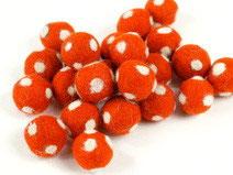 30 Filzkugeln Fliegenpilz orange