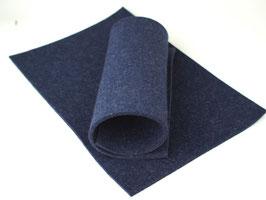 Wollfilzplatte 20 x 30 cm , 3mm , Blau, Farbe Nr. 8