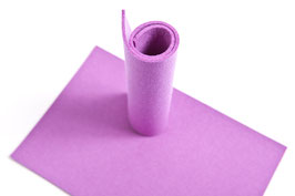 Wollfilzplatte 33 x 45 cm , 3mm , violett , Farbe Nr. 15