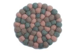 Filzkugel Untersetzer 10 cm rosa