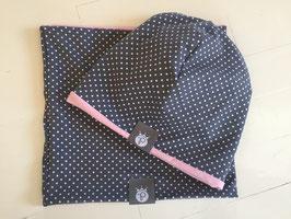 Grey Dots- Pink