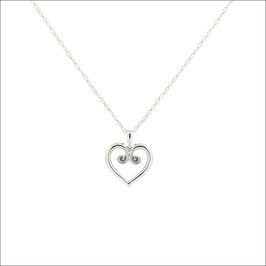Hearty Necklace 18KWG