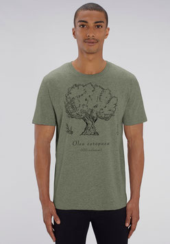 "Herren Shirt in Farbe heather khaki ""Olivenbaum"""