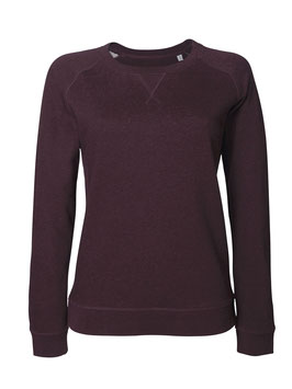 Frauen Pullover in heather grape red