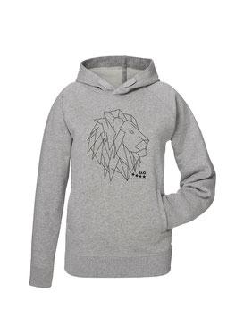 Löwe Unisex Hoodie in grey