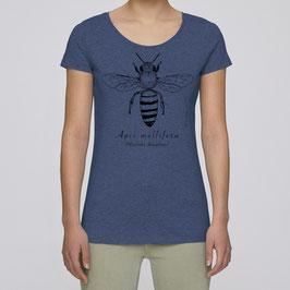 Frauen T-Shirt in dark heather indigo