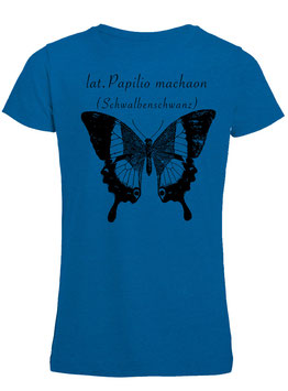 Mädchen Shirt lat. Papilio machaon in Royal blue