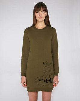 Sweatshirtkleid in khaki