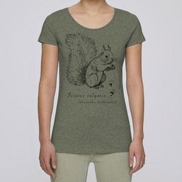 Frauen T-Shirt in mid heather khaki