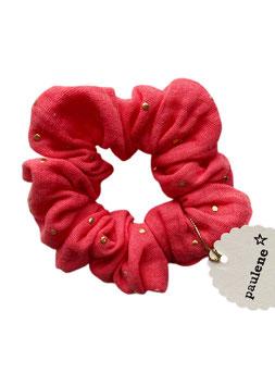 SCRUNCHIE glitter coral