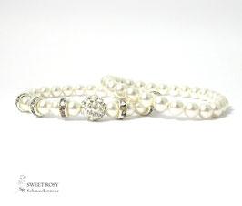 Braut Armbänder Set 2-teilig ivory