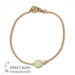 Armband Kristallglas rund rosévergoldet
