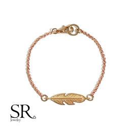 Armband rosévergoldet Feder
