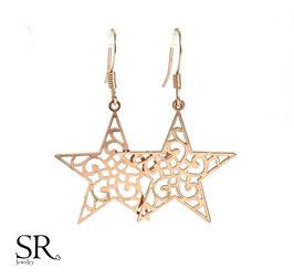 Ohrhänger rosévergoldet Boho Stern
