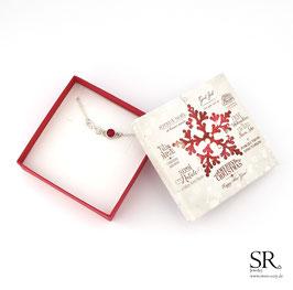 Armband Glaskristall + Infinity Zeichen + Weihnachtsgeschenkbox