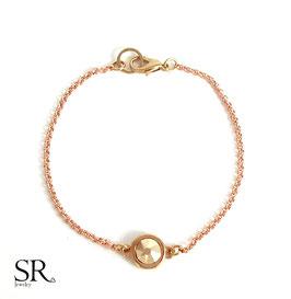 Armband Kristallglasstein rosévergoldet roségold