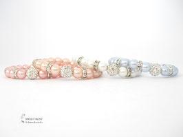 Armband Perlen Glitzerperle WUNSCHFARBE