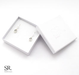 Ohrhänger 925 Sterling Silber Herzsymbol + Minitropfen