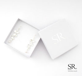 Ohrhänger 925 Sterling Silber Blumen Ohrringe