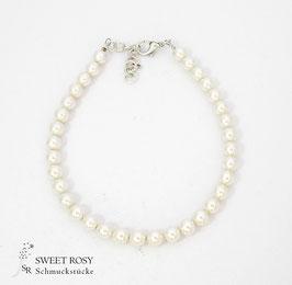 Fußkettchen Zarte Perlen Eleganz ivory