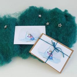Kerstkaarten 4 stuks met enveloppen