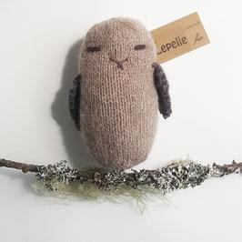 Uil handgemaakt van 100% wol